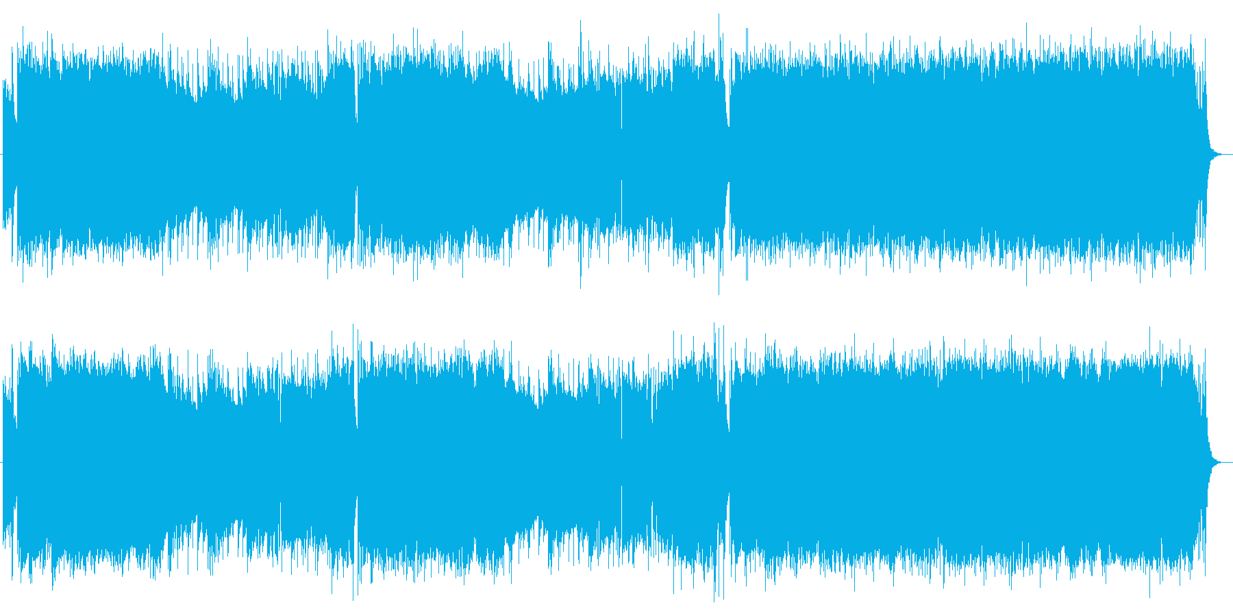 哀愁感漂うエレキギターのロックバラードの再生済みの波形