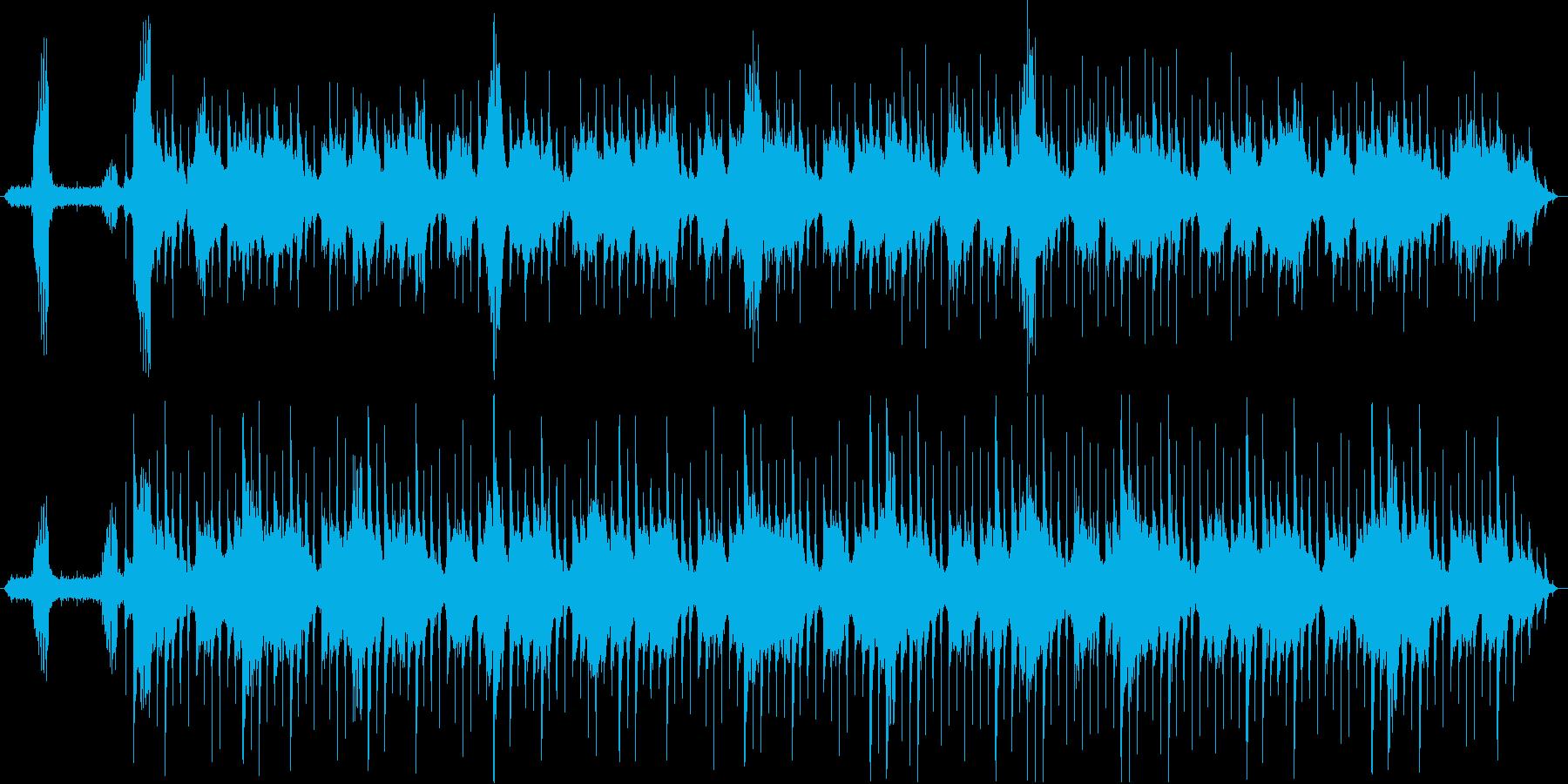 静かで穏やかなヒーリングミュージックの再生済みの波形