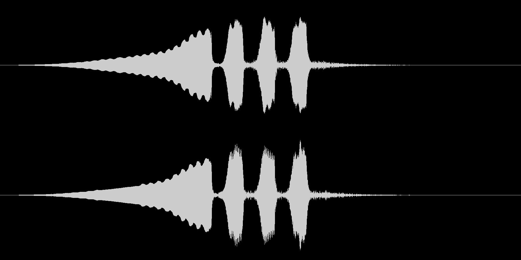 うぐいすの鳴き声 1A ほーほけきょの未再生の波形