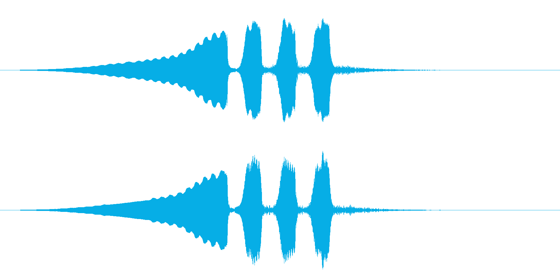 うぐいすの鳴き声 1A ほーほけきょの再生済みの波形