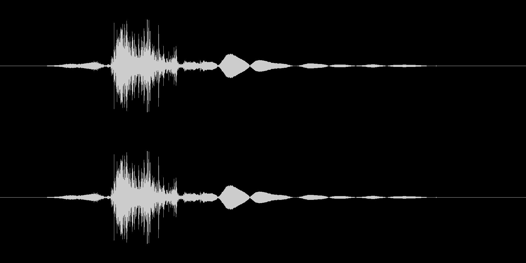 ドサッ(荷物を置いた音)の未再生の波形