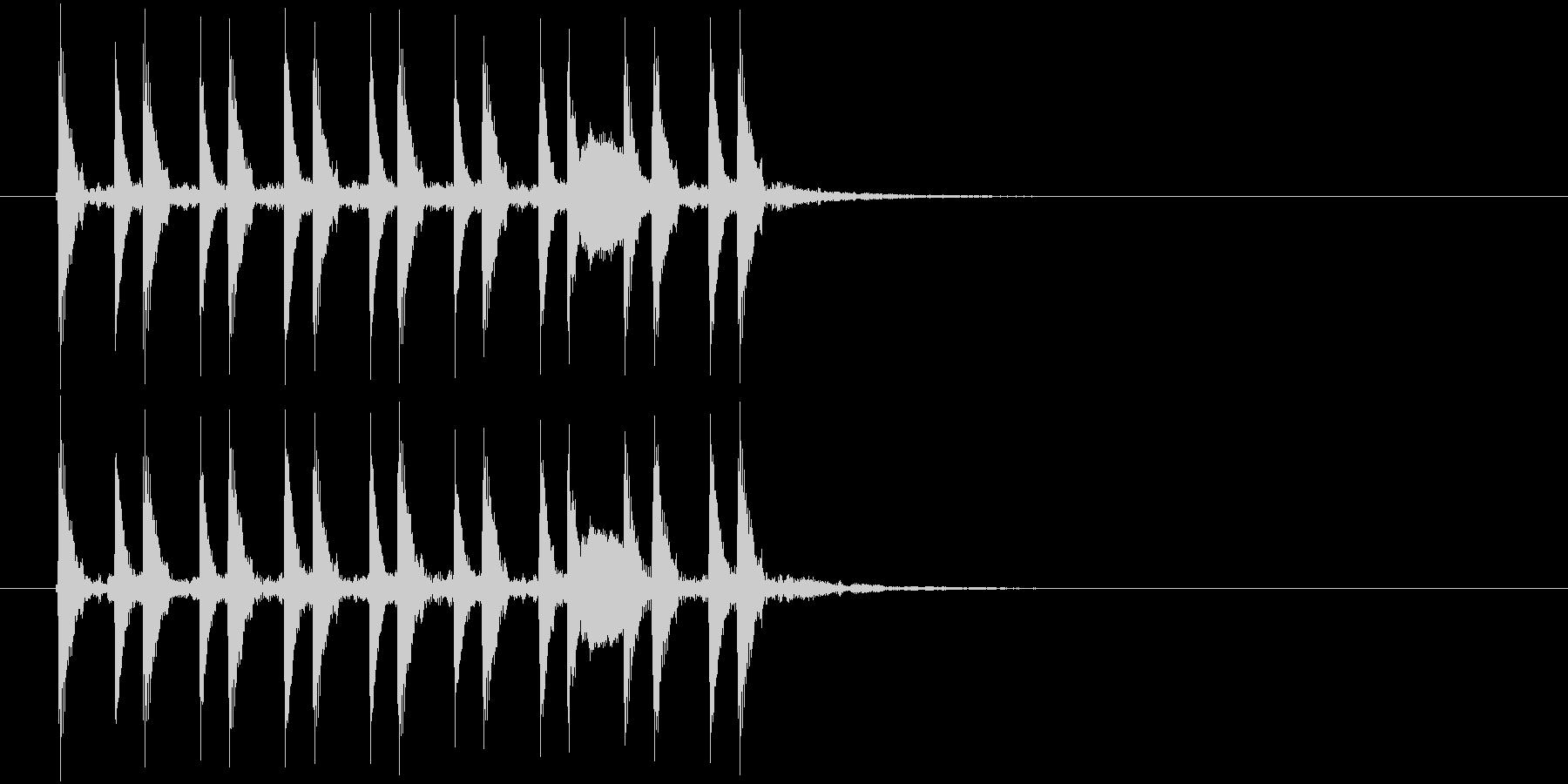 テクノ風のジングル曲、サウンドロゴの未再生の波形