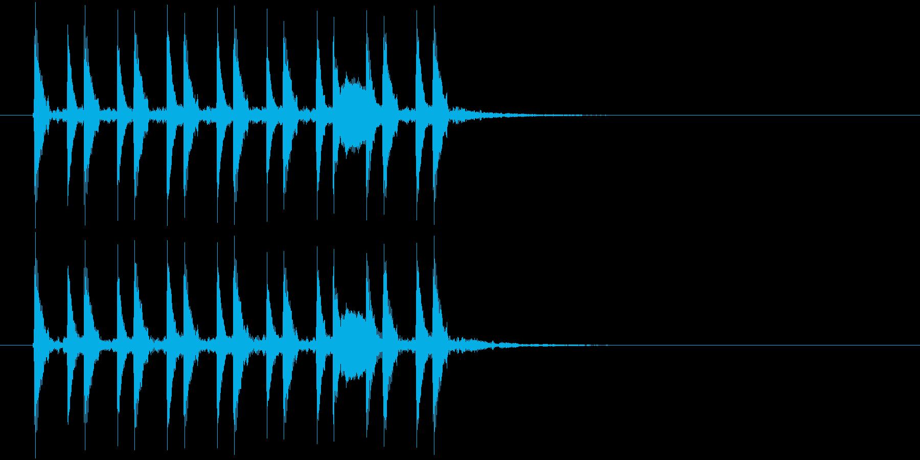 テクノ風のジングル曲、サウンドロゴの再生済みの波形