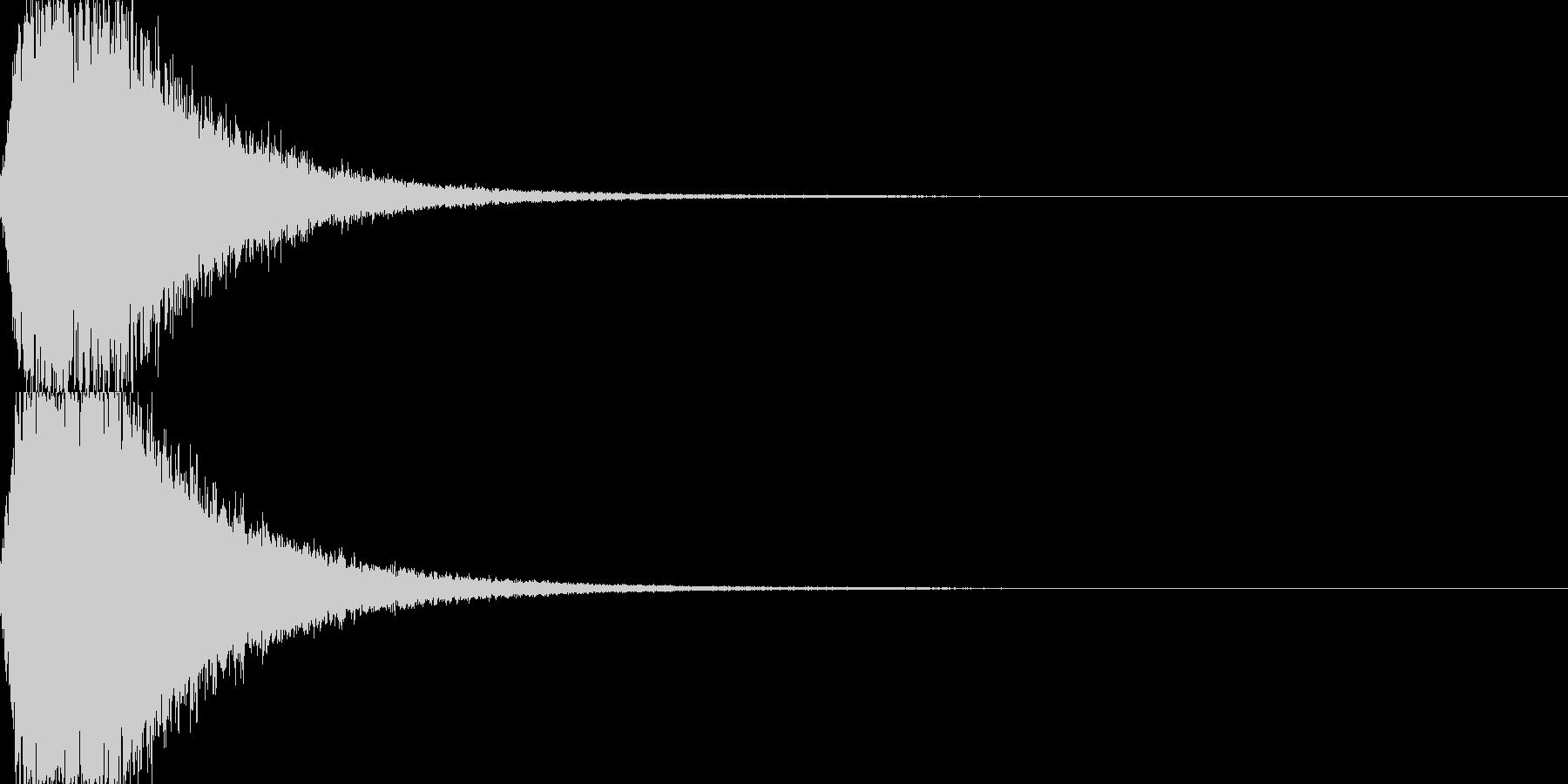 ジャーン 開始のシンバル・ゴングの未再生の波形