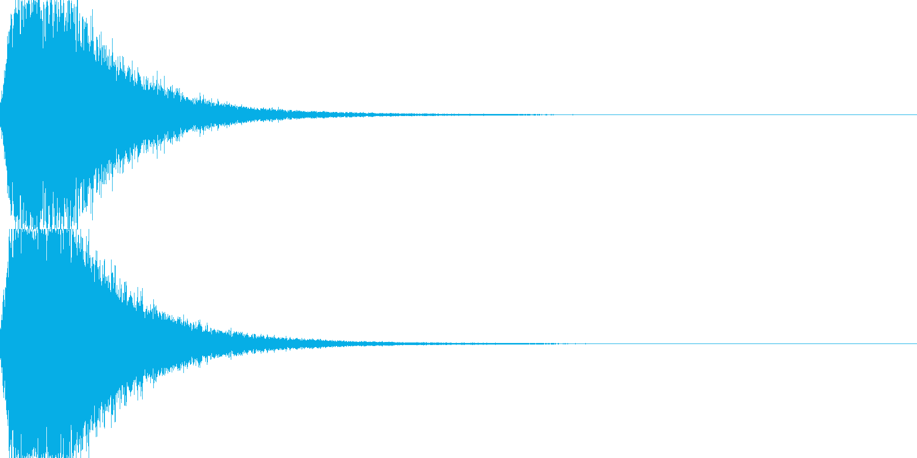 ジャーン 開始のシンバル・ゴングの再生済みの波形