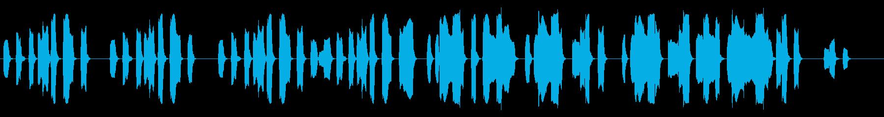リコーダー単体で演奏された楽曲です。シ…の再生済みの波形