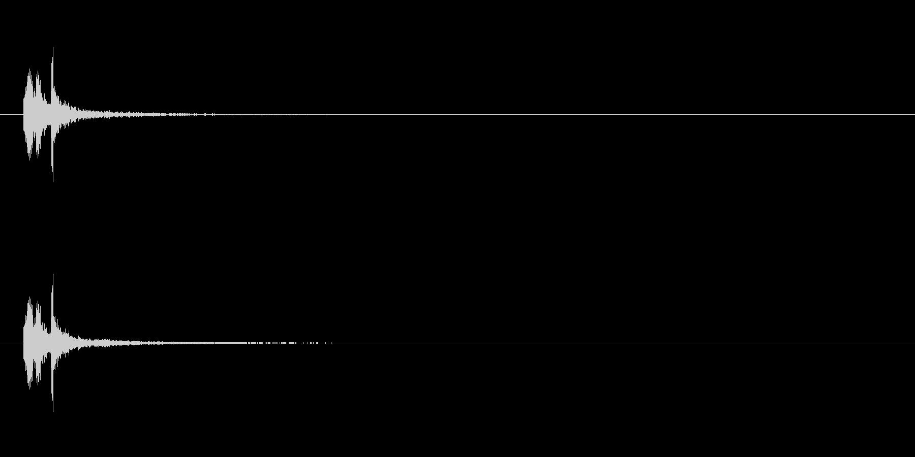 【掴む01-3】の未再生の波形