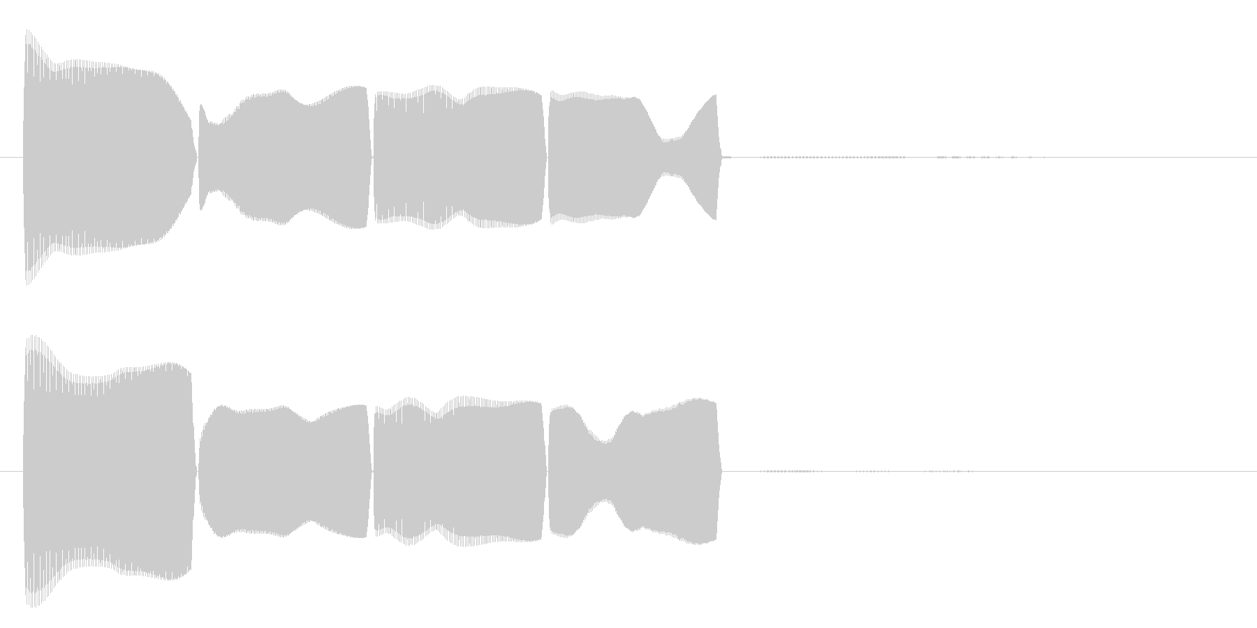 テロリラ(アラートに最適)の未再生の波形
