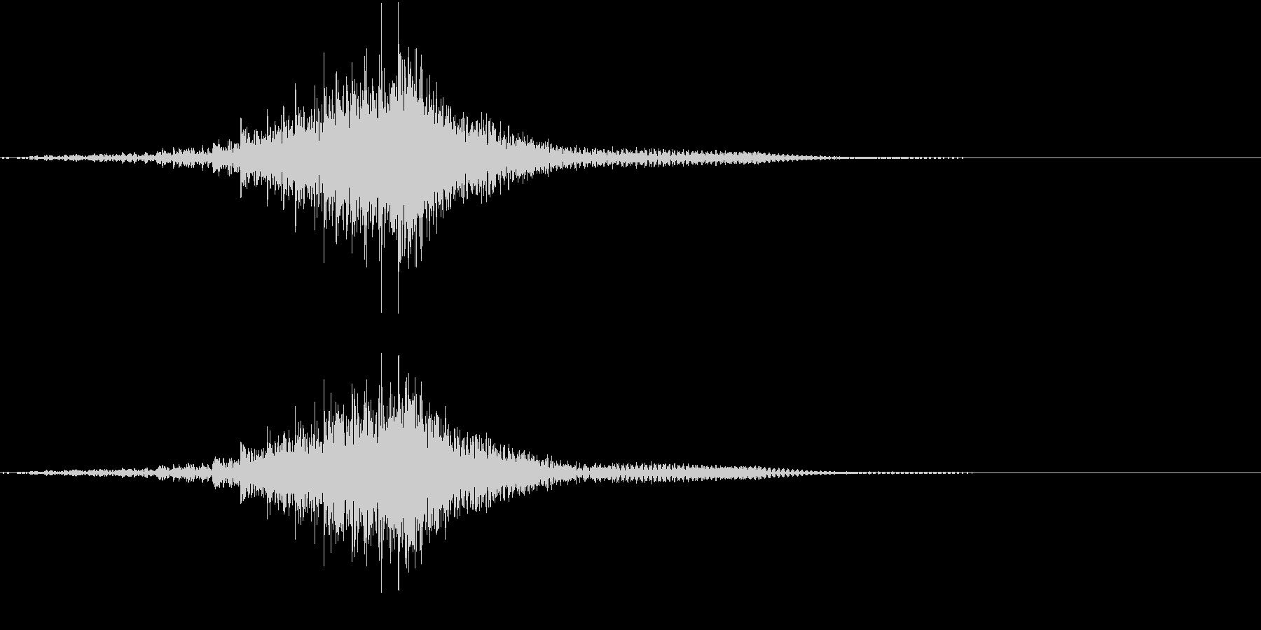 重低音ティンパニのロール トレモロの未再生の波形