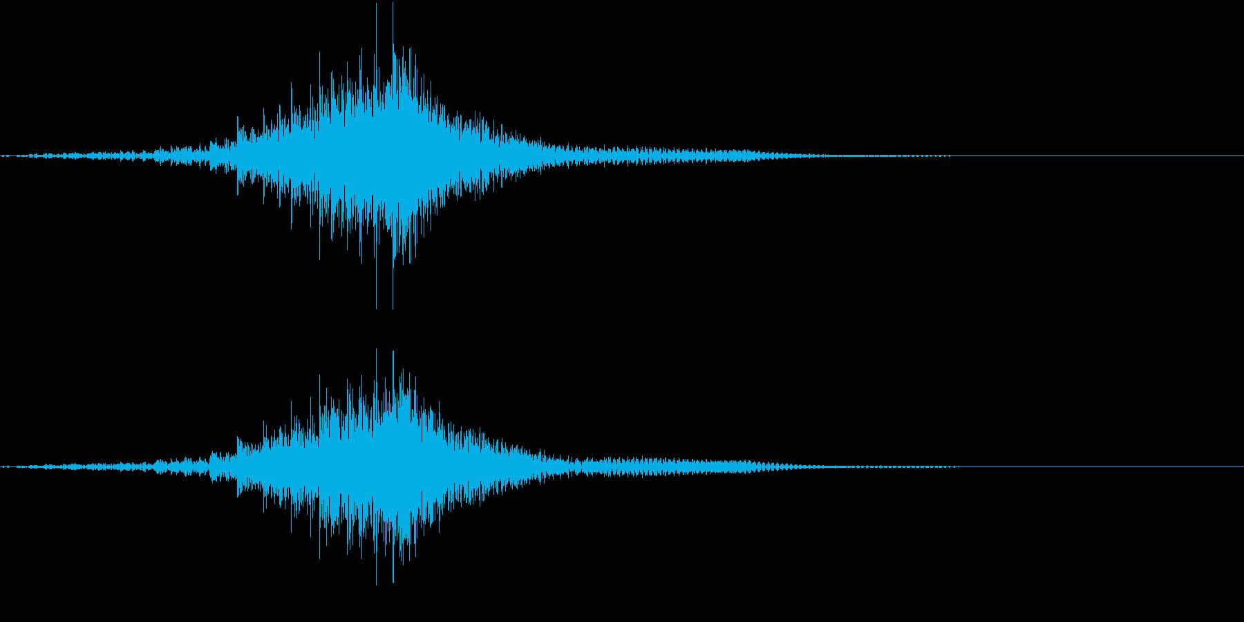 重低音ティンパニのロール トレモロの再生済みの波形