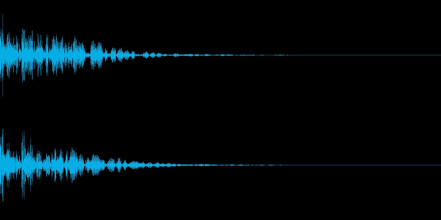 太鼓。「ドドン」の再生済みの波形