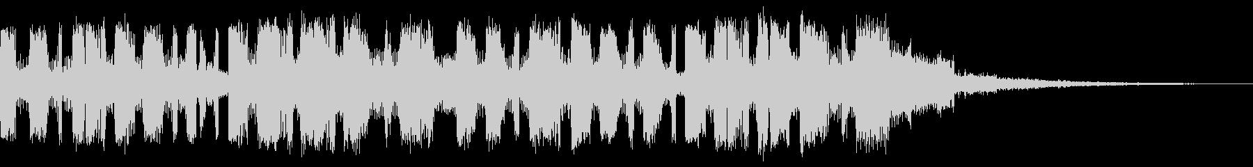 ミステリアスシリアスポップジングルの未再生の波形