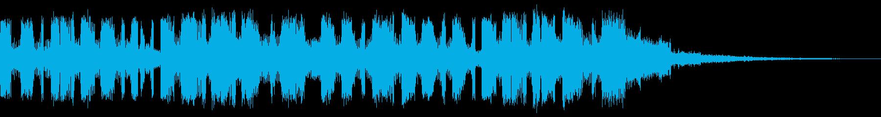 ミステリアスシリアスポップジングルの再生済みの波形