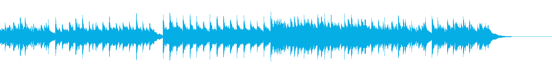 【1分版】やさしい癒し系ピアノの再生済みの波形