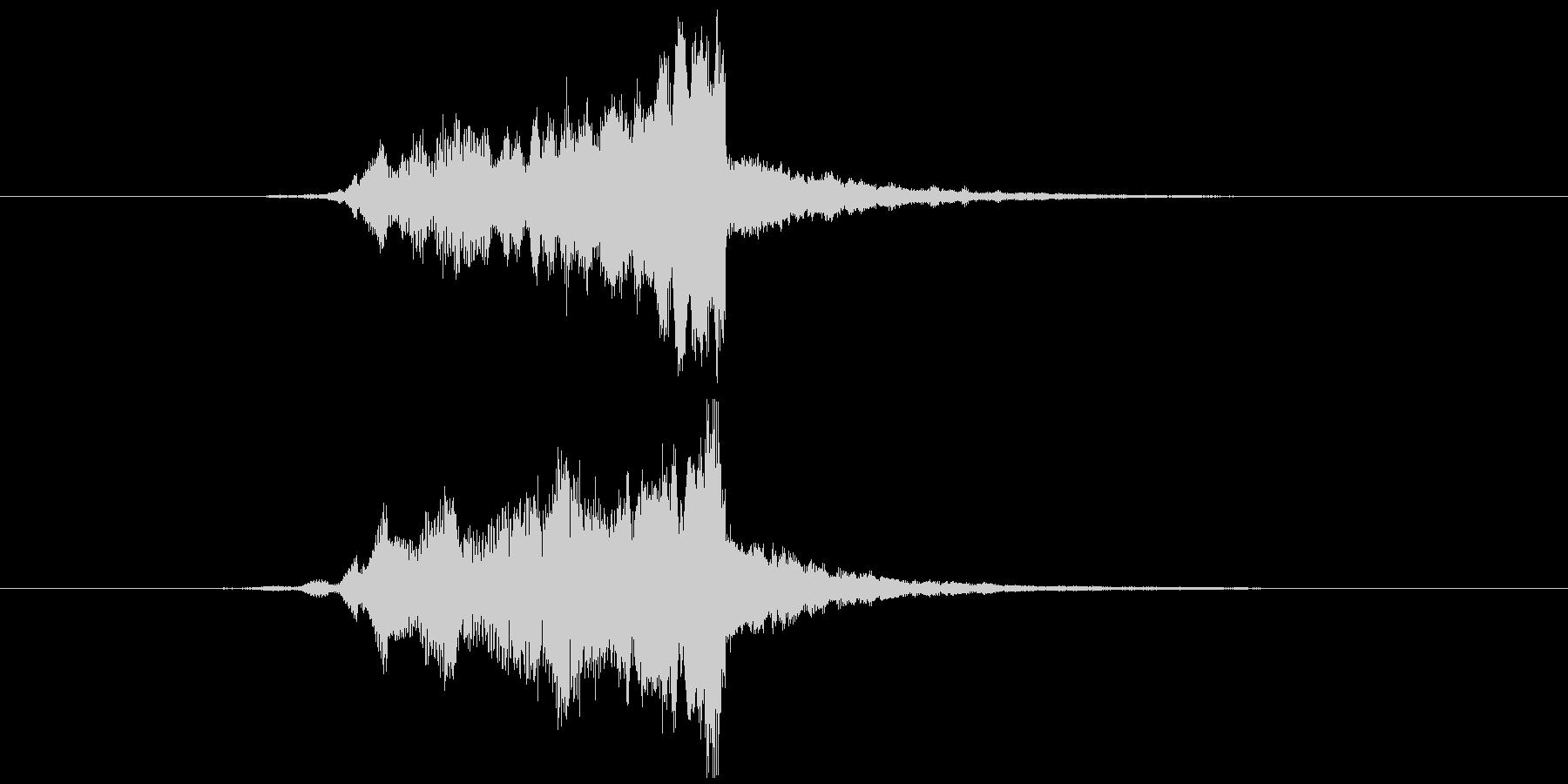 画面・システム起動音1の未再生の波形