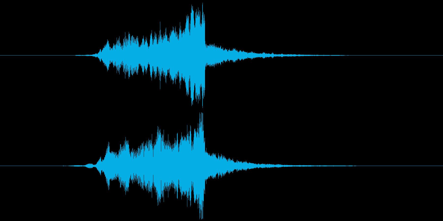 画面・システム起動音1の再生済みの波形