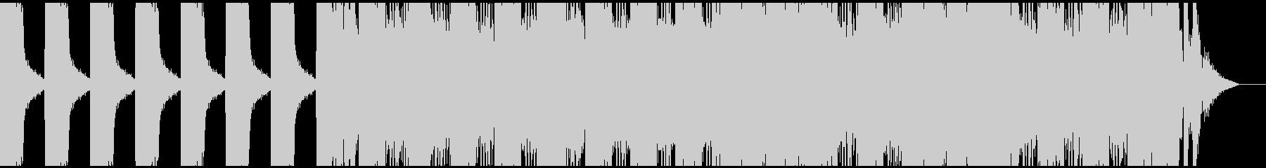 ハードロック調の出囃子SEの未再生の波形
