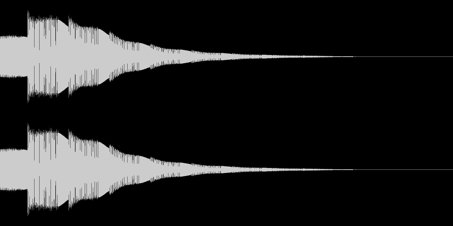 ピコーン(選択音/SF/宇宙/宇宙船)の未再生の波形