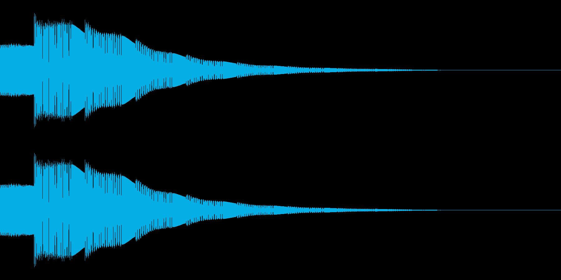 ピコーン(選択音/SF/宇宙/宇宙船)の再生済みの波形