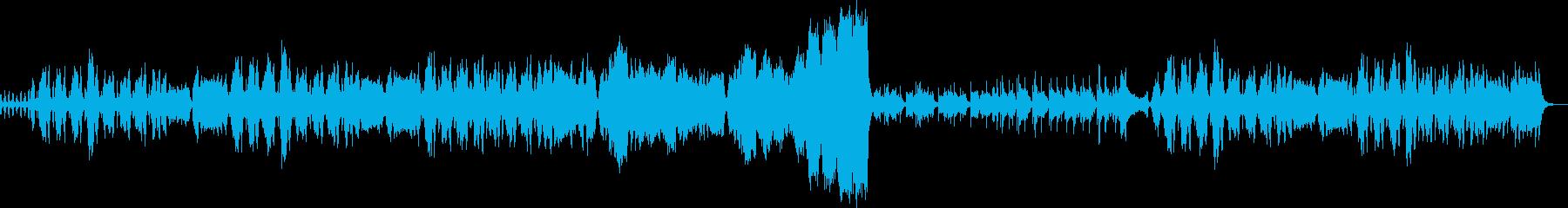 バイオリンでパズルゲーム中の上品な謎解きの再生済みの波形