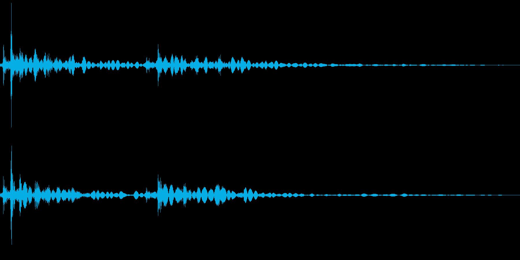 カチャ!キーボード,ボタンを押す効果音2の再生済みの波形