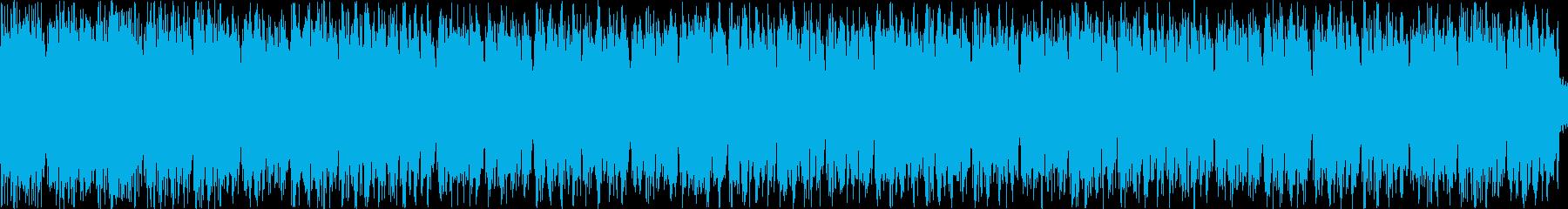 落ち着いた感じのテクノの再生済みの波形