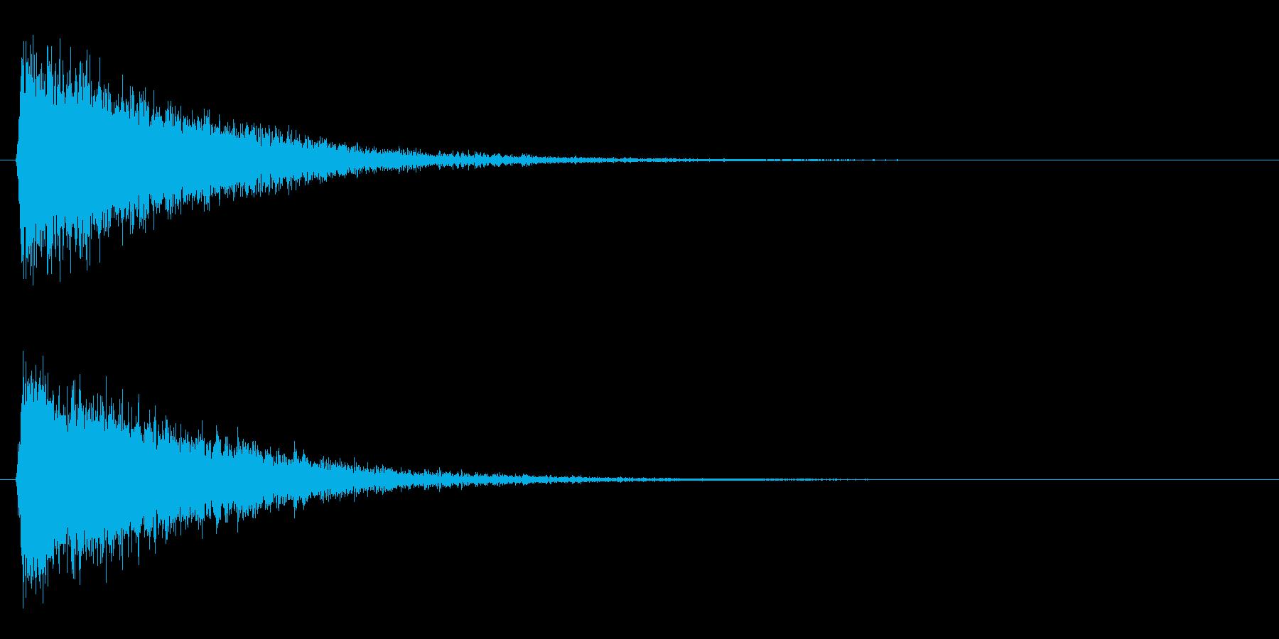 シューン/ワープ/移動の再生済みの波形