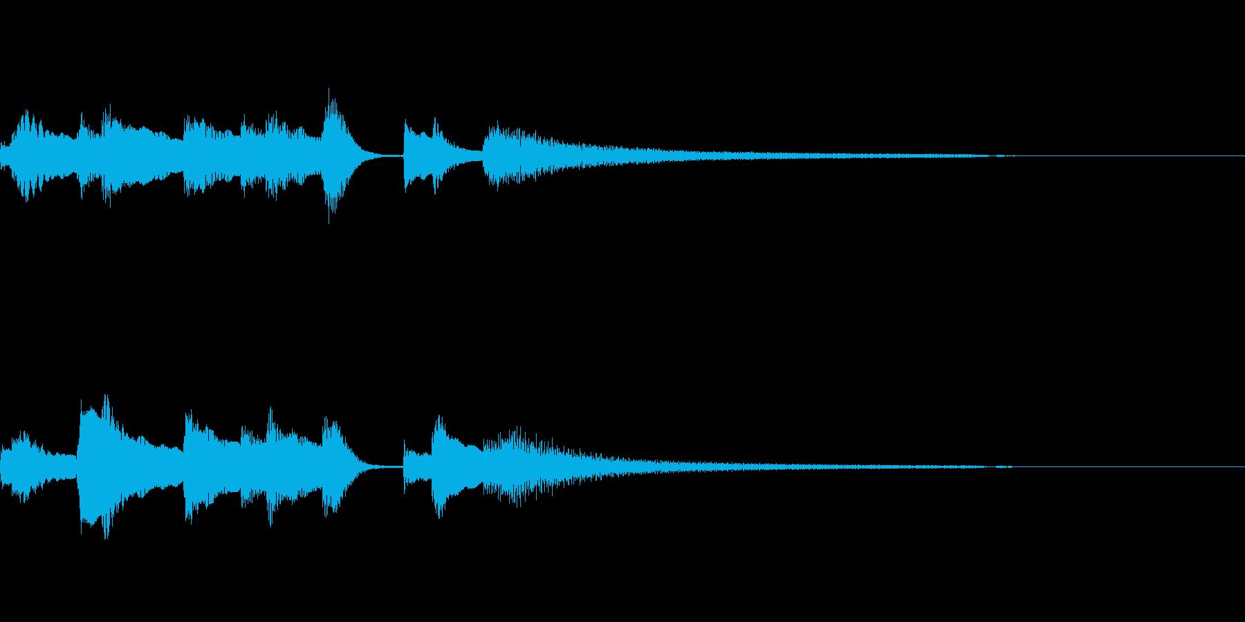 やさしいピアノ・サウンドロゴ11の再生済みの波形
