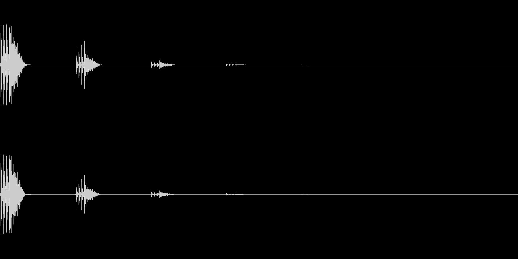 【アクセント04-3】の未再生の波形