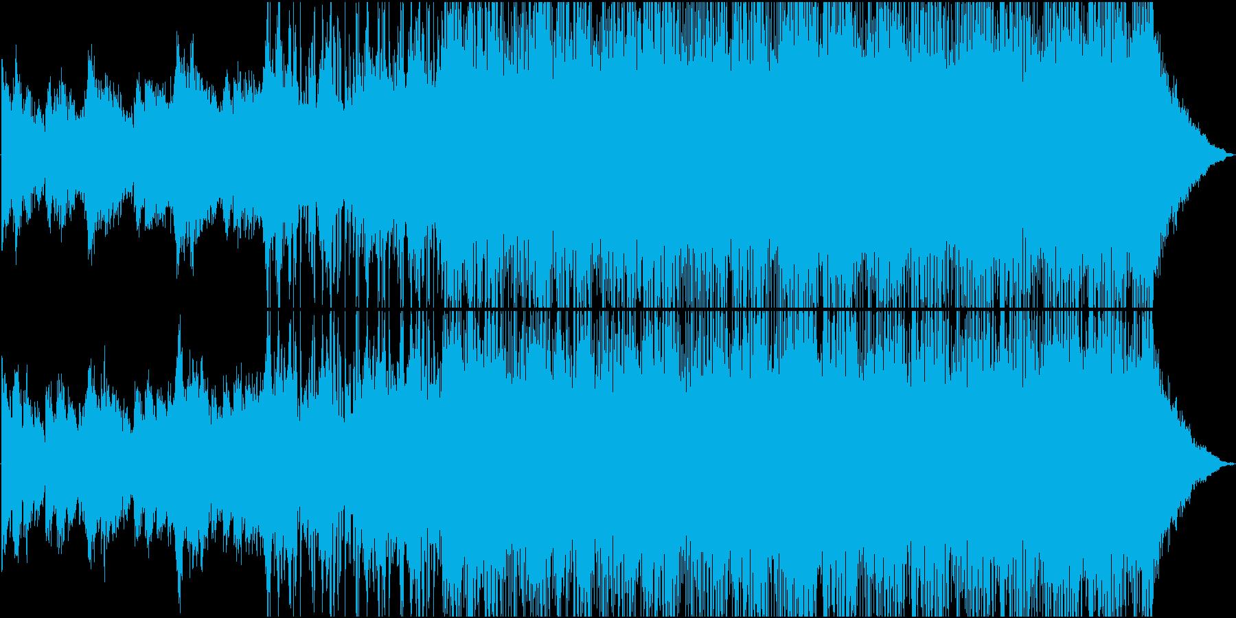 母なる星を連想させるエレクトロニカの再生済みの波形