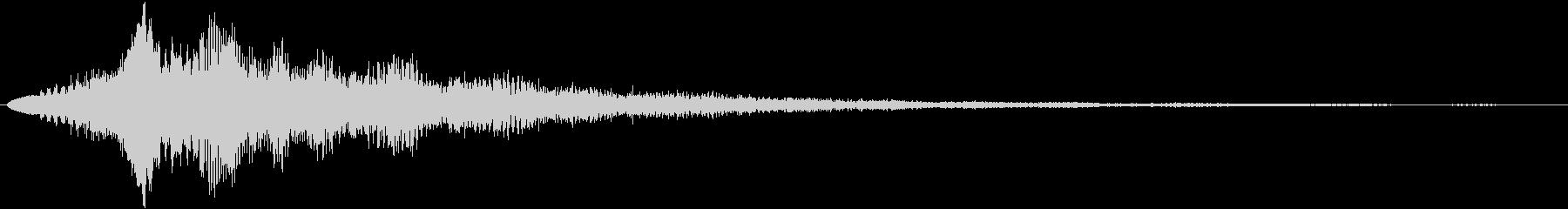 サウンドロゴ(ウエッティー)の未再生の波形