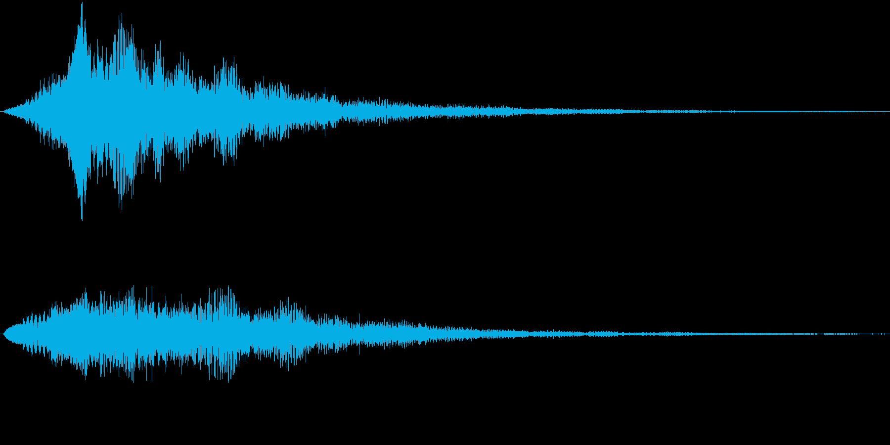 サウンドロゴ(ウエッティー)の再生済みの波形