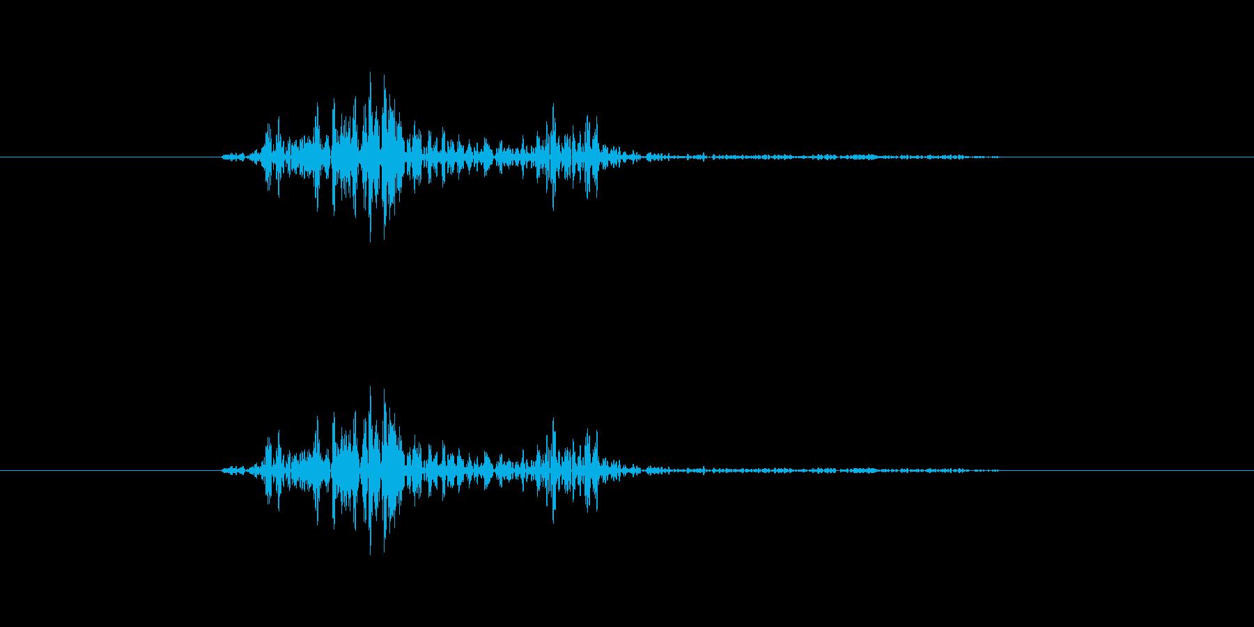 ジャッ【キャンセル音:クールで硬派】の再生済みの波形
