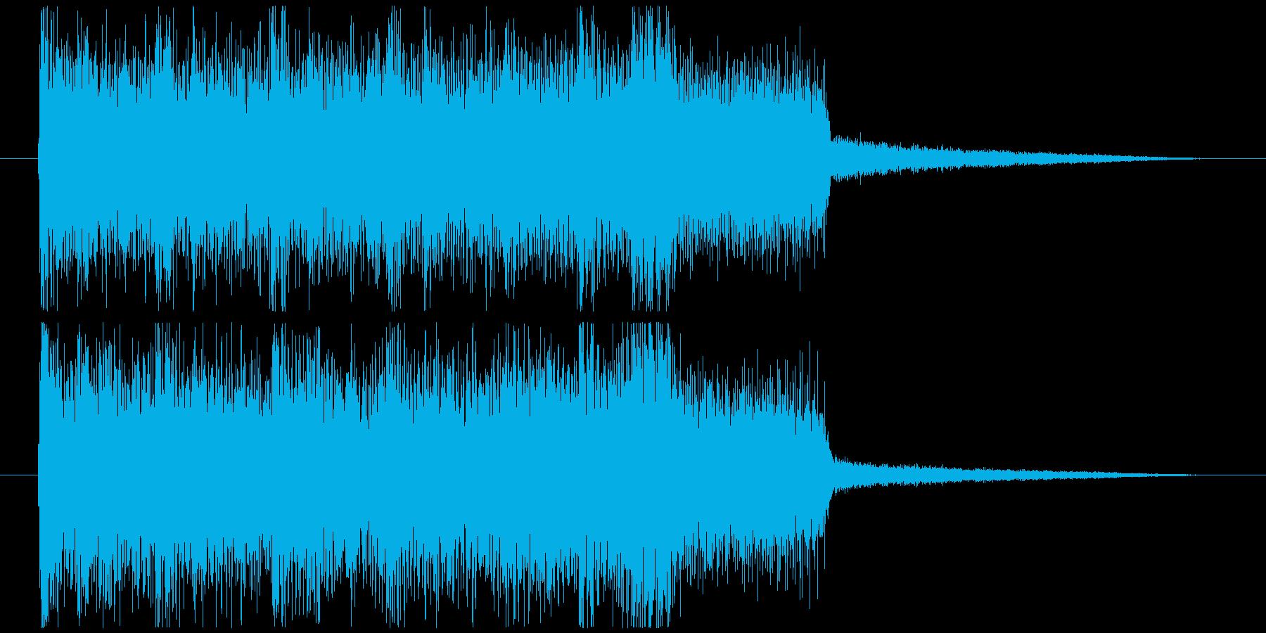 パワフルで軽快なハードコアのキメの再生済みの波形
