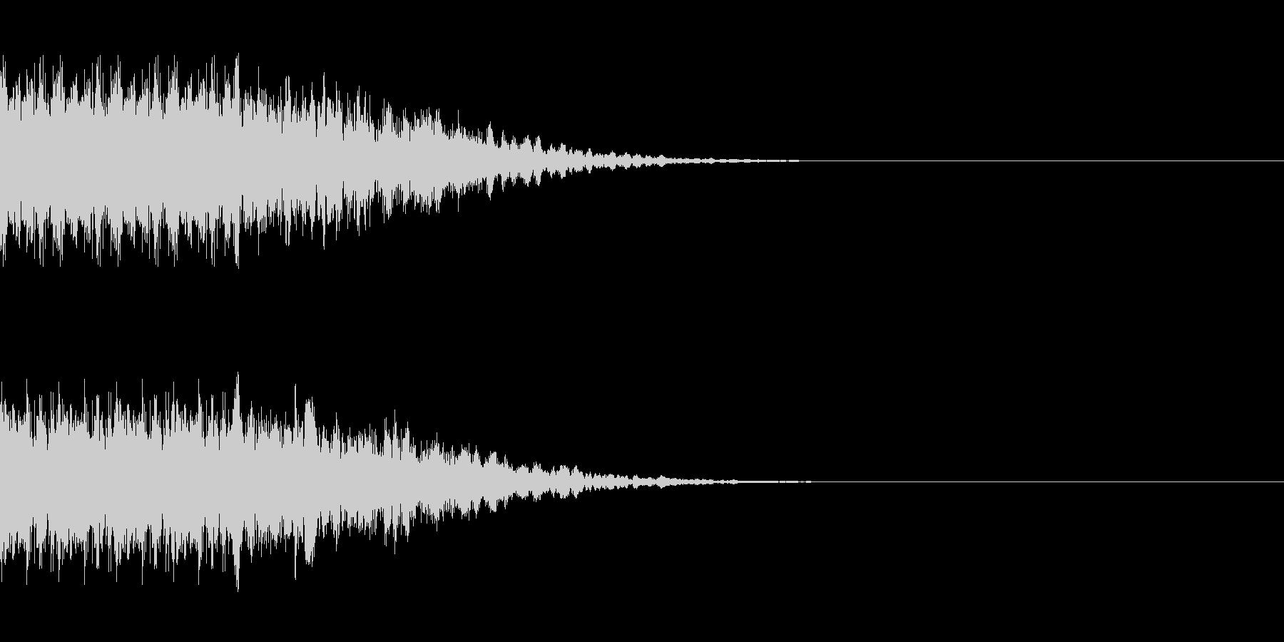 インパクトのあるカットインの未再生の波形