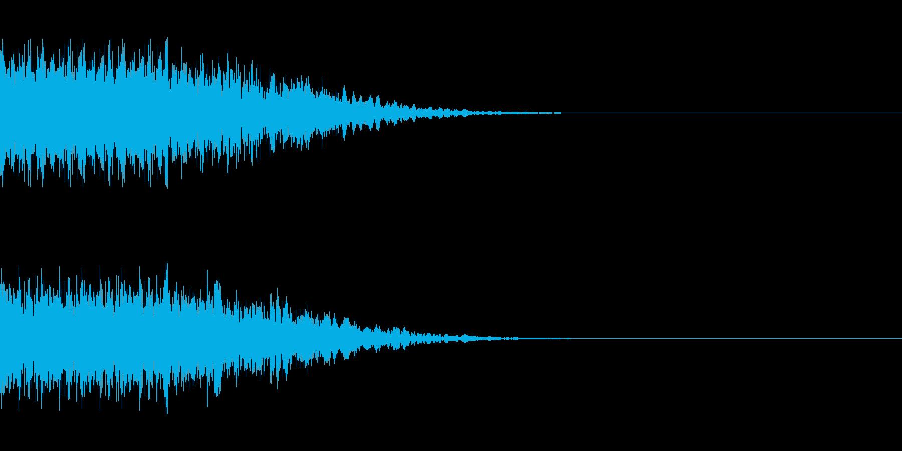 インパクトのあるカットインの再生済みの波形