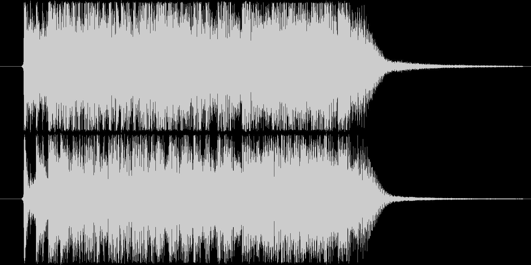 格闘・戦闘系イメージのメタル的ジングルの未再生の波形