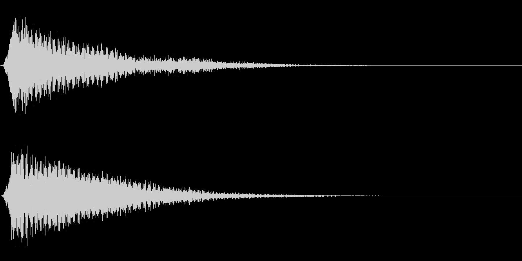 サスペンスに最適!ピアノの弦を弄ぶ音1の未再生の波形