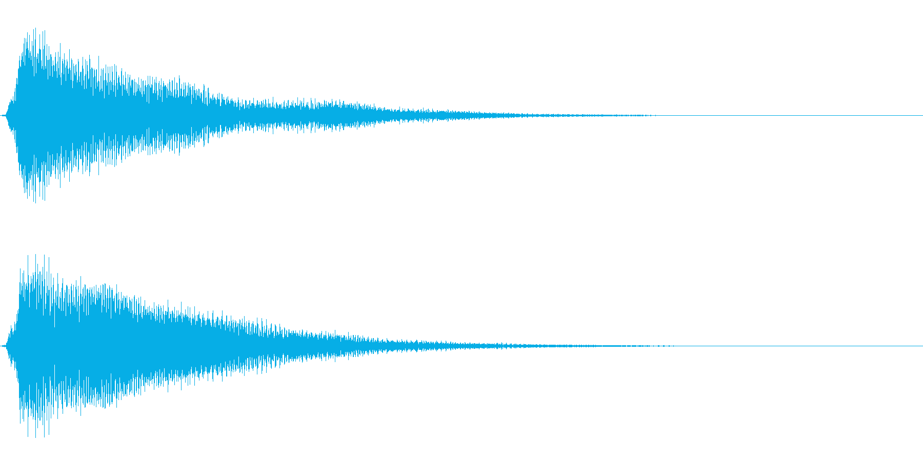 サスペンスに最適!ピアノの弦を弄ぶ音1の再生済みの波形