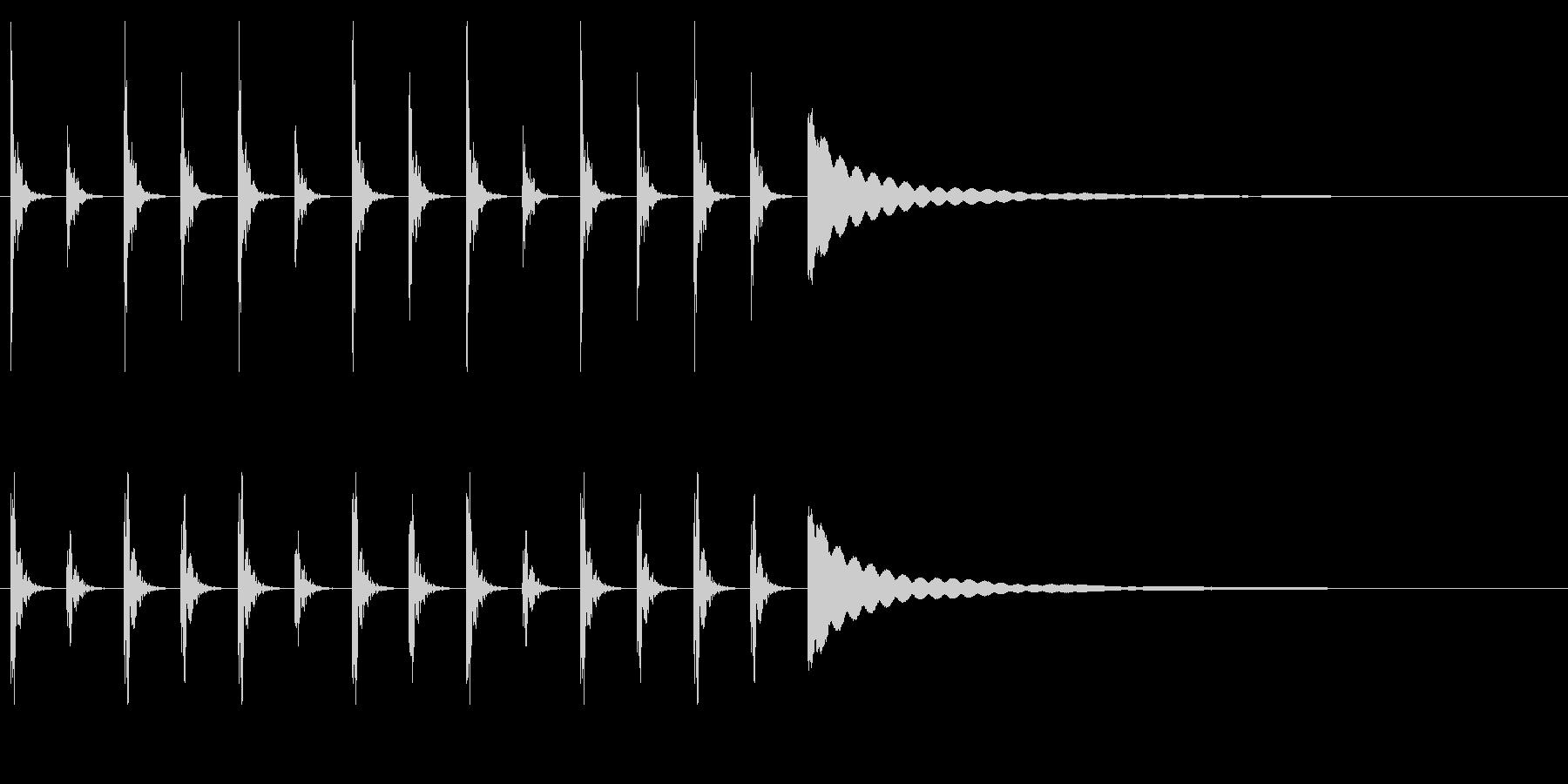 ポクポクチン2木魚シンキングタイム10秒の未再生の波形