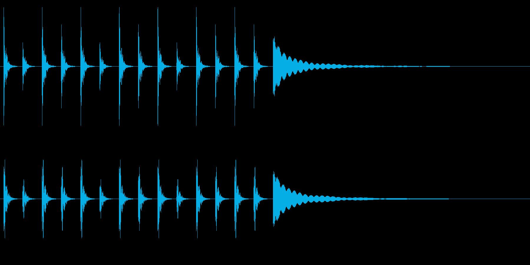 ポクポクチン2木魚シンキングタイム10秒の再生済みの波形