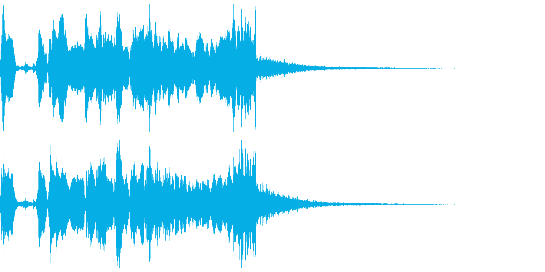 シンプルなファンファーレ2+Drの再生済みの波形