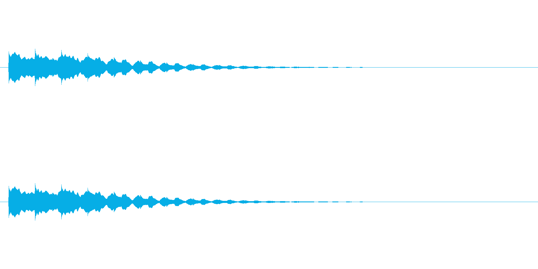 【アクセント19-3】の再生済みの波形