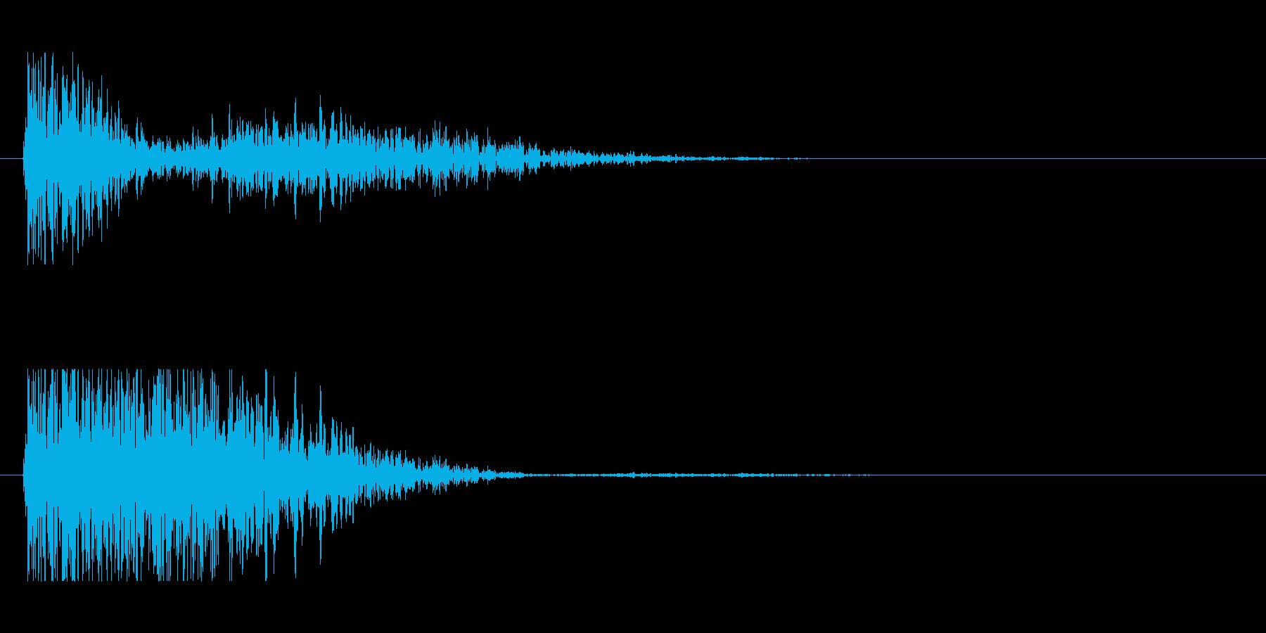 SF風の発射音の再生済みの波形