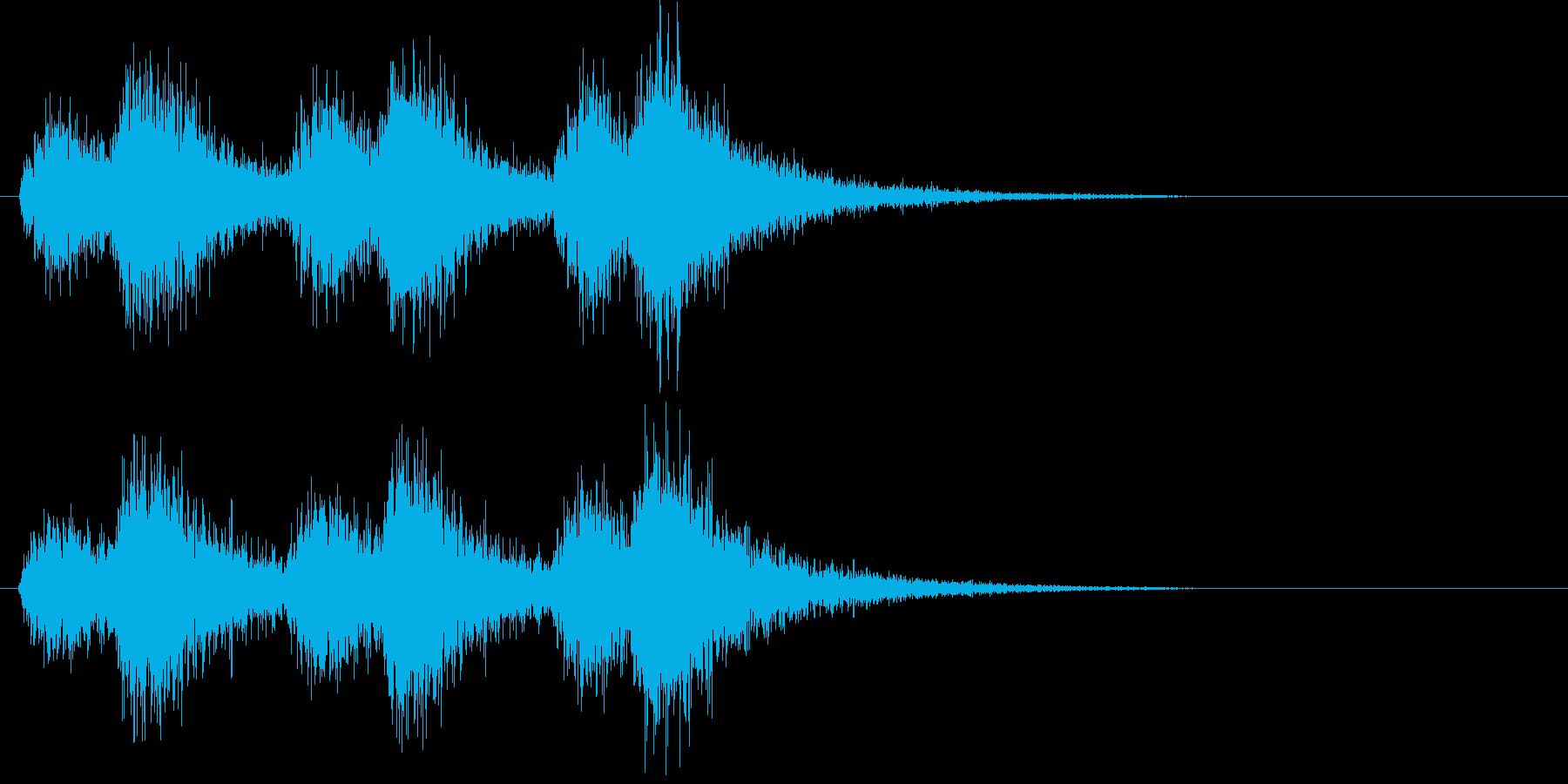 オーケストラでジャジャン ジャジャン3の再生済みの波形