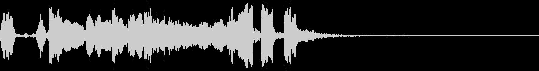 シンプルなファンファーレ3+Drの未再生の波形
