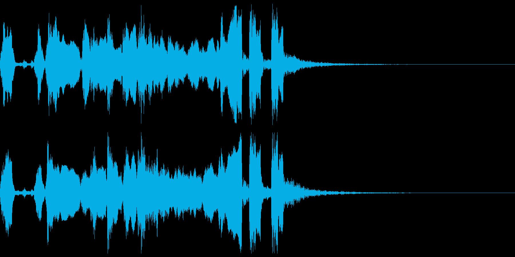 シンプルなファンファーレ3+Drの再生済みの波形