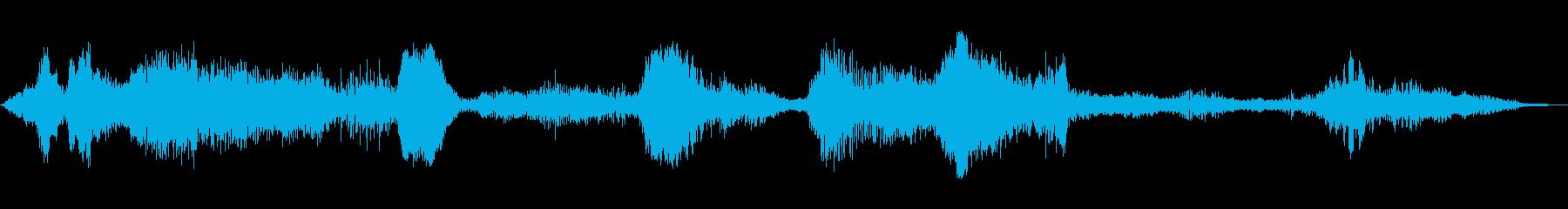 魔獣・ゾンビの吠え声の再生済みの波形