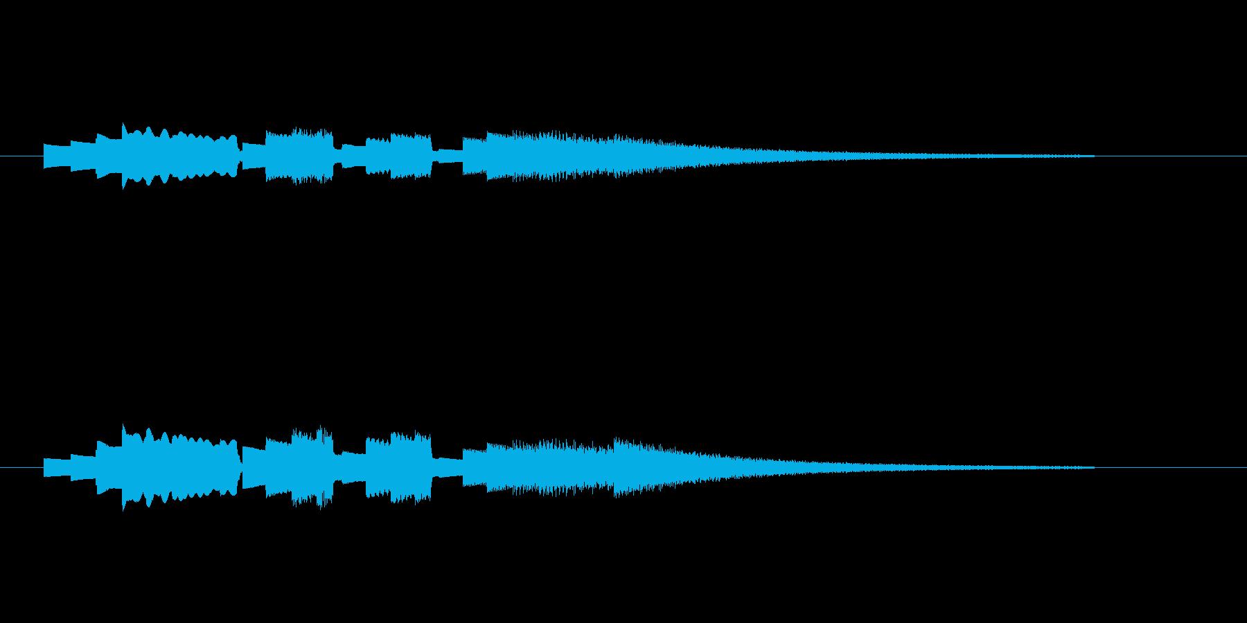 アイキャッチにオススメなエレビのジングルの再生済みの波形
