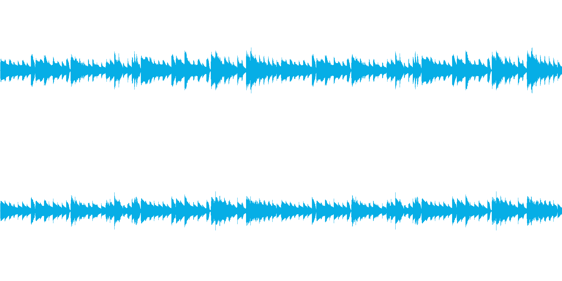 ピアノメロループ/ダーク/切ない#4の再生済みの波形